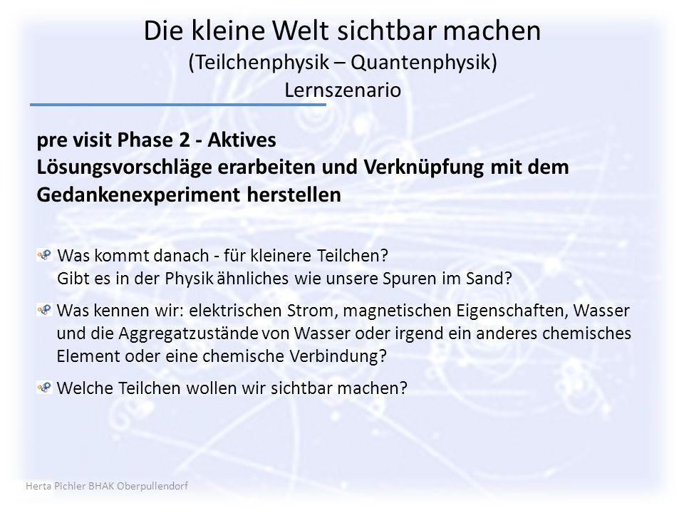 Herta Pichler BHAK Oberpullendorf pre visit Phase 2 - Aktives Lösungsvorschläge erarbeiten und Verknüpfung mit dem Gedankenexperiment herstellen Was k