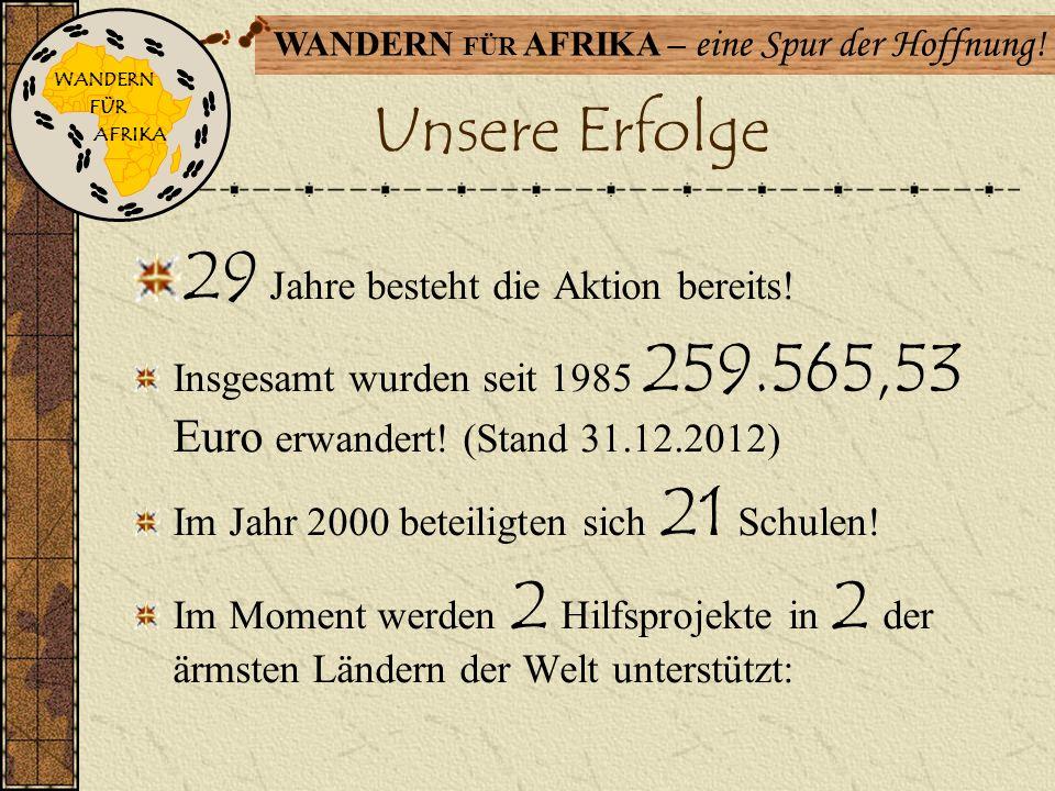 WANDERN FÜR AFRIKA – eine Spur der Hoffnung! Unser Konzept Einmal im Jahr wird ein normaler zu einem ganz besonderen Wandertag!!! Kinder brauchen Schu