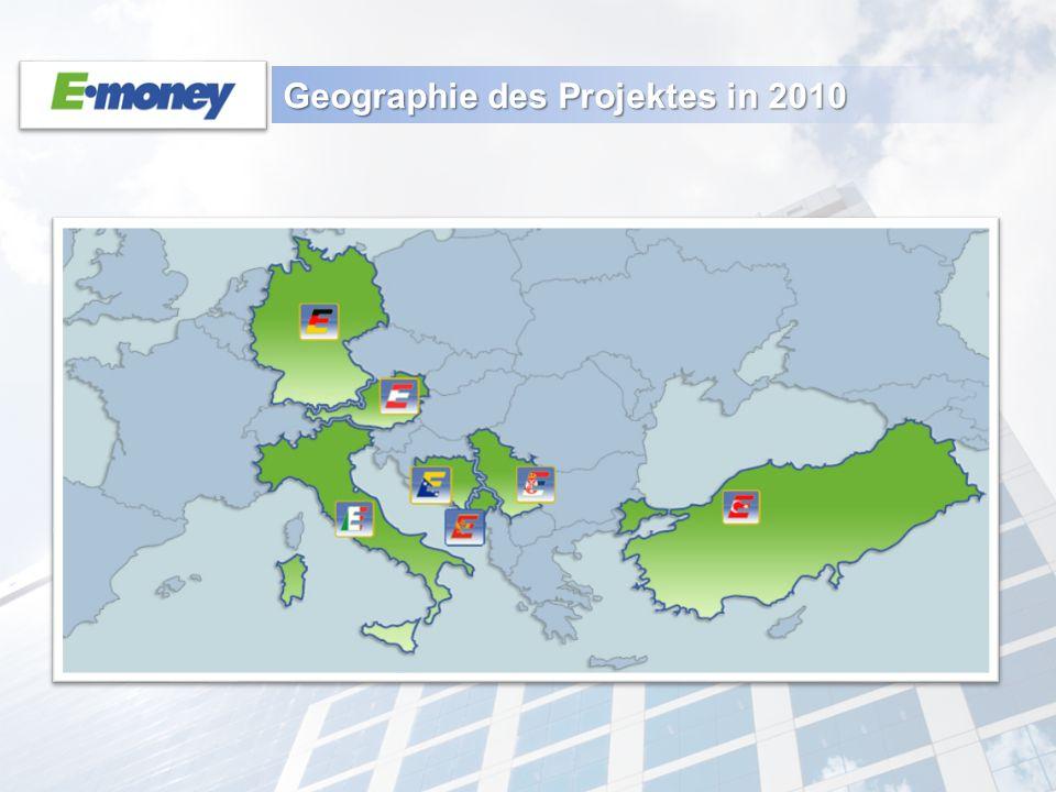 Geographie des Projektes in 2010