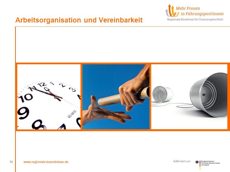 www.regionale-buendnisse.de Gefördert vom Arbeitsorganisation und Vereinbarkeit 14