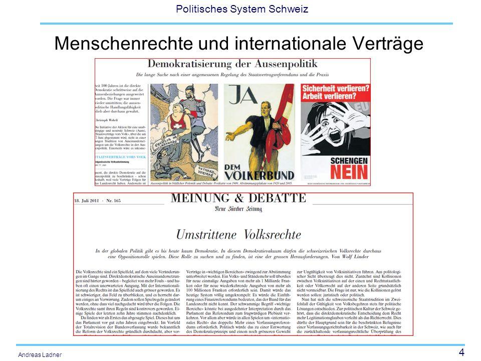 4 Politisches System Schweiz Andreas Ladner Menschenrechte und internationale Verträge