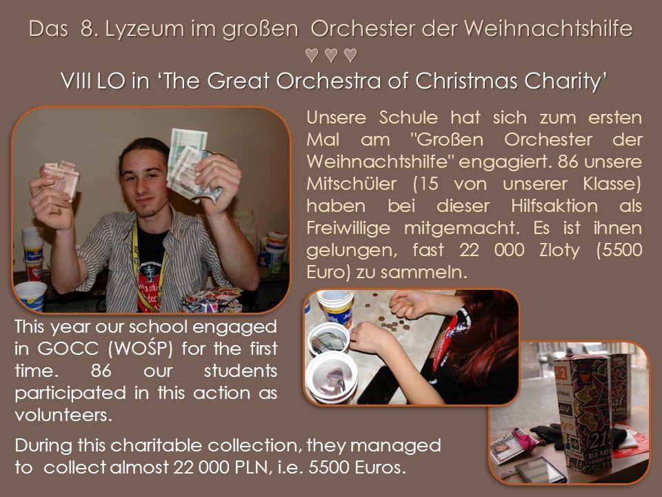 Unsere Schule hat sich zum ersten Mal am Großen Orchester der Weihnachtshilfe engagiert.