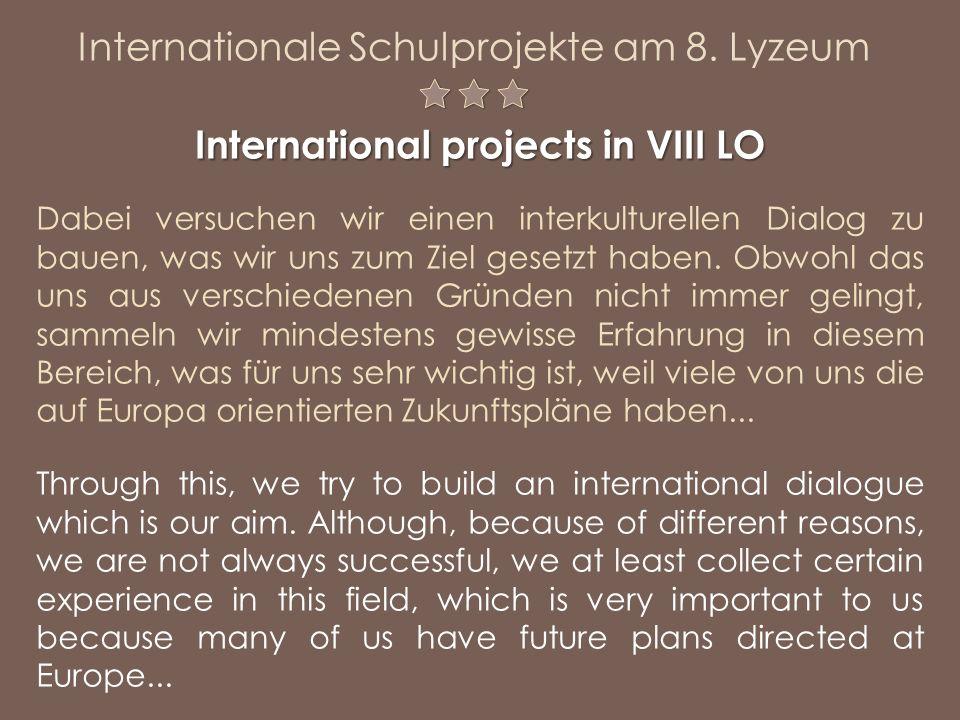 Dabei versuchen wir einen interkulturellen Dialog zu bauen, was wir uns zum Ziel gesetzt haben. Obwohl das uns aus verschiedenen Gründen nicht immer g