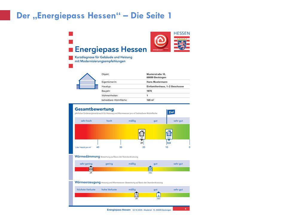 Der Energiepass Hessen – Die Seite 1
