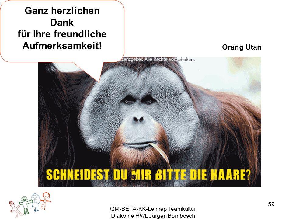 QM-BETA-KK-Lennep Teamkultur Diakonie RWL Jürgen Bombosch 59 Ganz herzlichen Dank für Ihre freundliche Aufmerksamkeit.