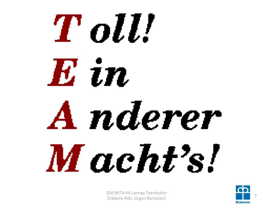 QM-BETA-KK-Lennep Teamkultur Diakonie RWL Jürgen Bombosch 58 Sie machen einfach hier weiter !