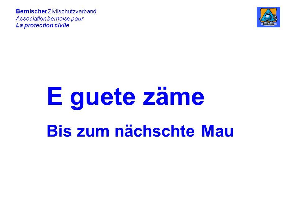 Bernischer Zivilschutzverband Association bernoise pour La protection civile E guete zäme Bis zum nächschte Mau