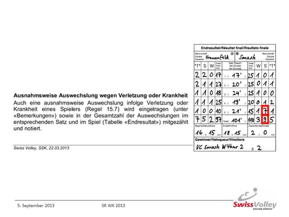 Regel 19.4.2.2 / 19.4.2.3 / 25.2.2.7 Der Libero Ein Libero, der im Rahmen einer Neubenennung ersetzt wurde, darf für den Rest des Spieles nicht mehr eingesetzt werden.