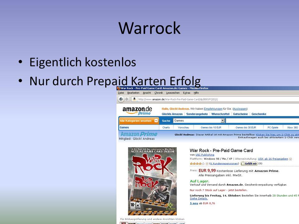 Warrock Eigentlich kostenlos Nur durch Prepaid Karten Erfolg