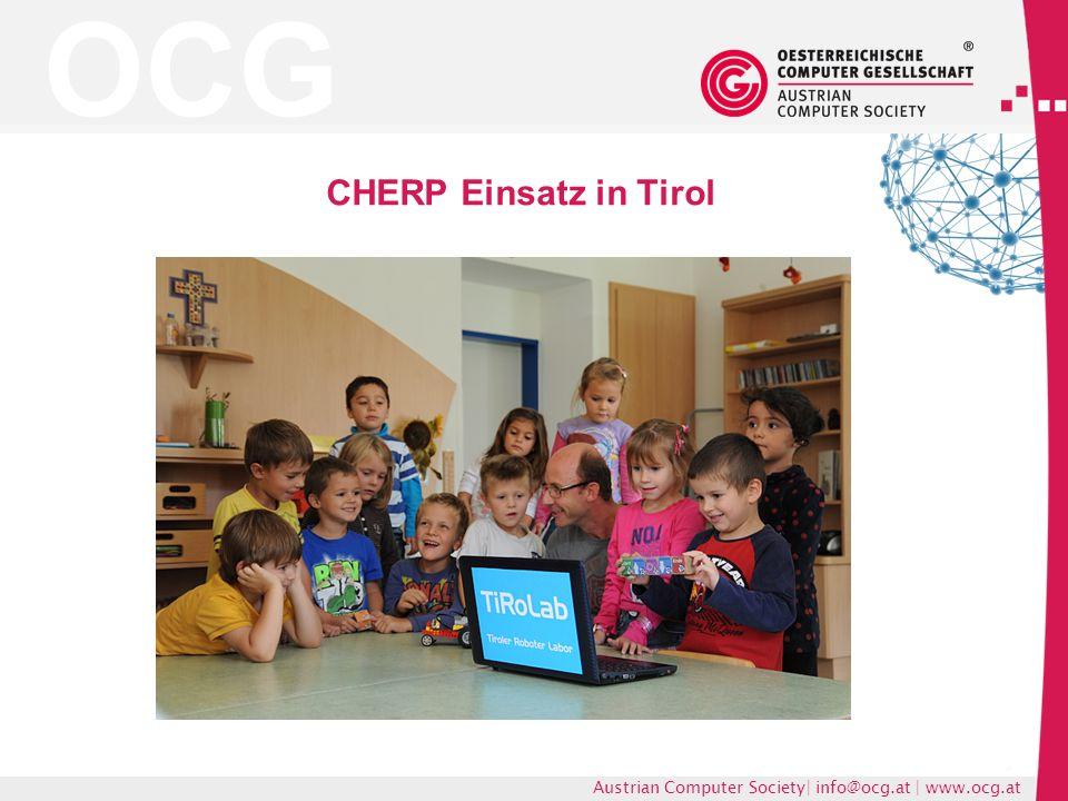 OCG Austrian Computer Society| info@ocg.at | www.ocg.at CHERP Einsatz in Tirol