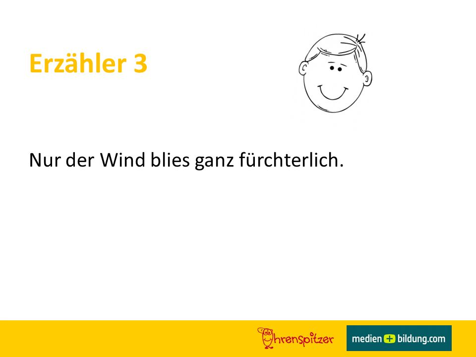 Erzähler 3 Nur der Wind blies ganz fürchterlich.