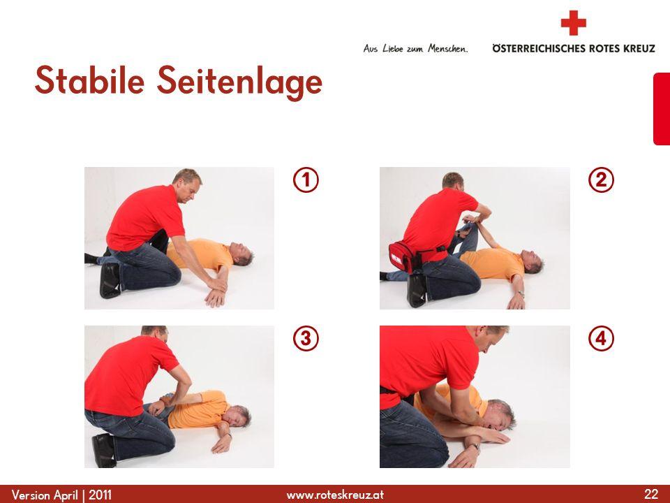 www.roteskreuz.at Version April | 2011 Stabile Seitenlage 22