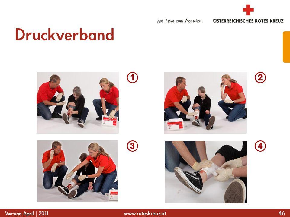 www.roteskreuz.at Version April | 2011 Druckverband 46
