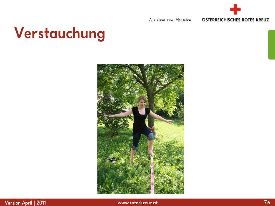 www.roteskreuz.at Version April | 2011 Verstauchung 76