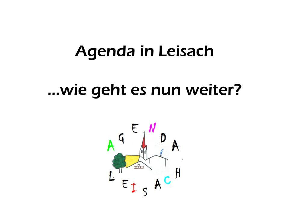 Agenda in Leisach …wie geht es nun weiter?