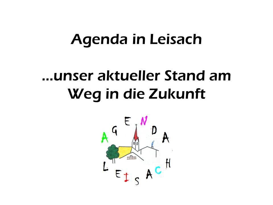 Agenda in Leisach …unser aktueller Stand am Weg in die Zukunft