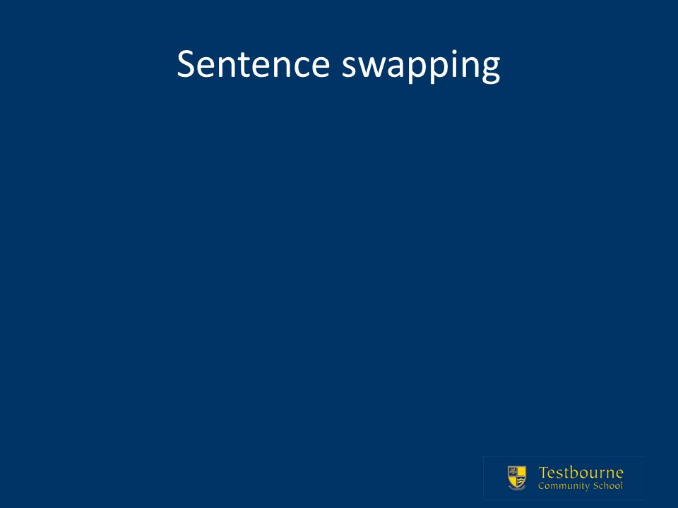Sentence swapping