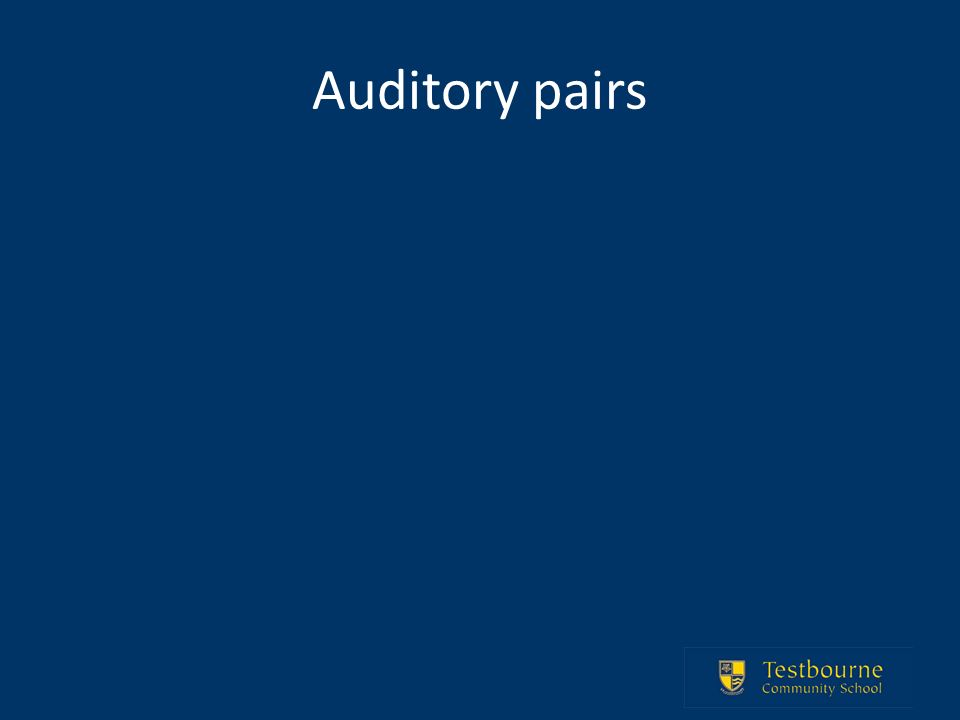 Auditory pairs