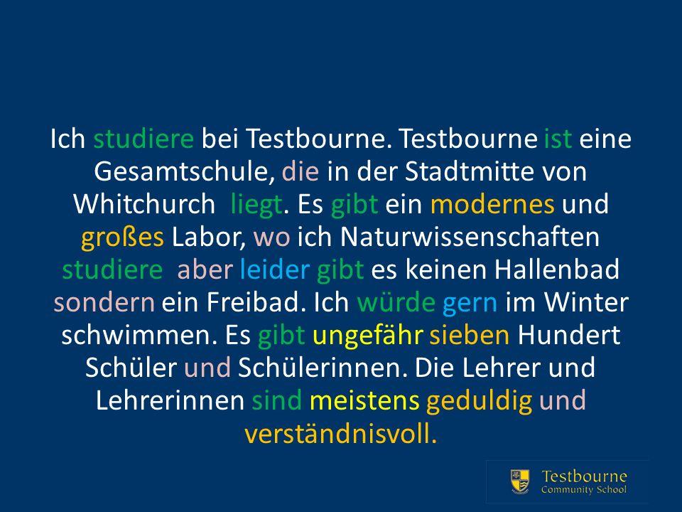 Ich studiere bei Testbourne.