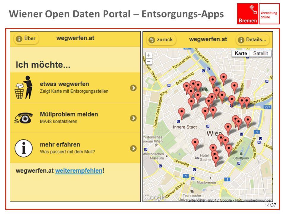 Wiener Open Daten Portal – Entsorgungs-Apps 14/37