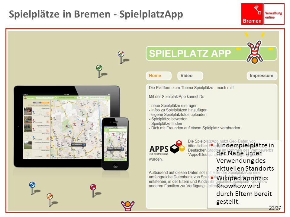 Spielplätze in Bremen - SpielplatzApp Kinderspielplätze in der Nähe unter Verwendung des aktuellen Standorts Wikipediaprinzip: Knowhow wird durch Elte