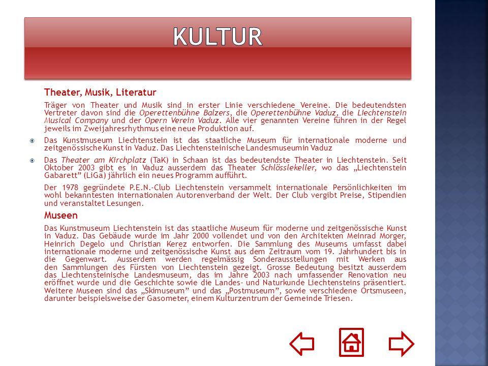 W Liechtensteinie istnieją trzy kluby piłkarskie: FC Vaduz, FC Schaan i FC Triesen.