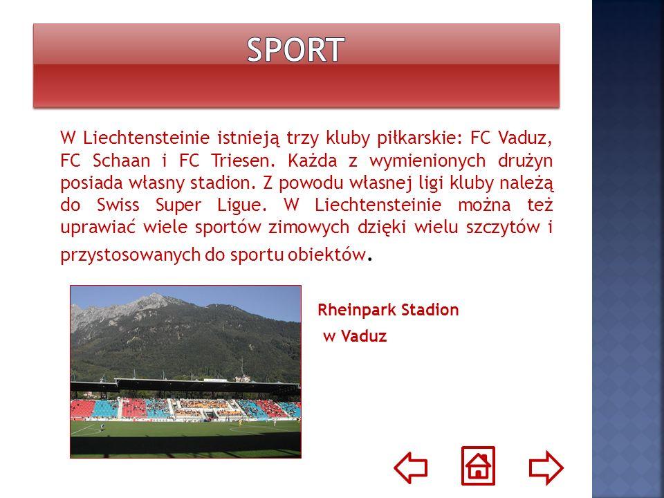 W Liechtensteinie istnieją trzy kluby piłkarskie: FC Vaduz, FC Schaan i FC Triesen. Każda z wymienionych drużyn posiada własny stadion. Z powodu własn