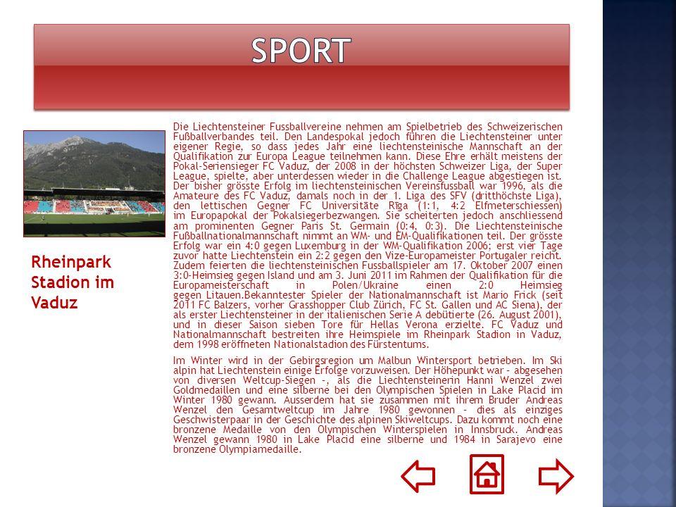 Die Liechtensteiner Fussballvereine nehmen am Spielbetrieb des Schweizerischen Fußballverbandes teil. Den Landespokal jedoch führen die Liechtensteine