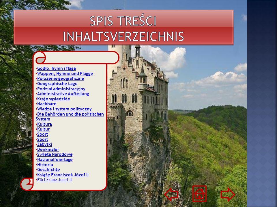 Hymnem Liechtensteinu jest pieśńNad młodym Renem Nad młodym Renem Leży Liechtenstein, Alpejskie to jest brzemię.