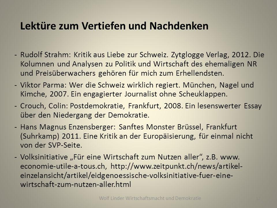Lektüre zum Vertiefen und Nachdenken -Rudolf Strahm: Kritik aus Liebe zur Schweiz.