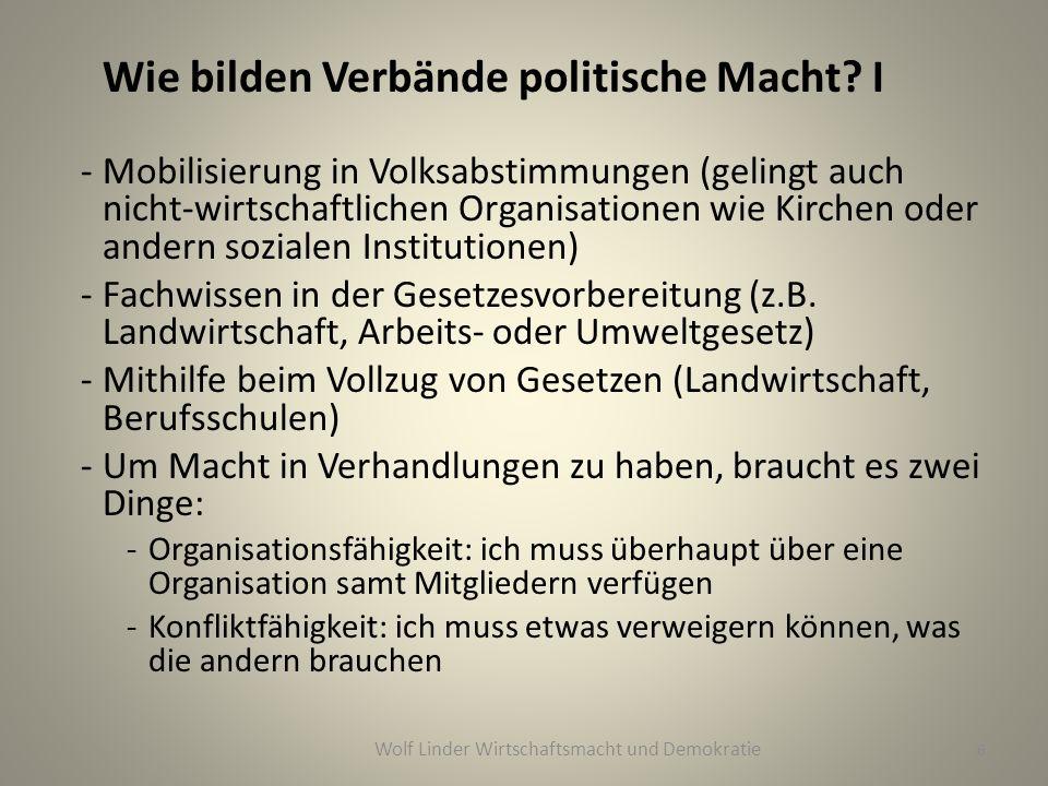 Wie bilden Verbände politische Macht.