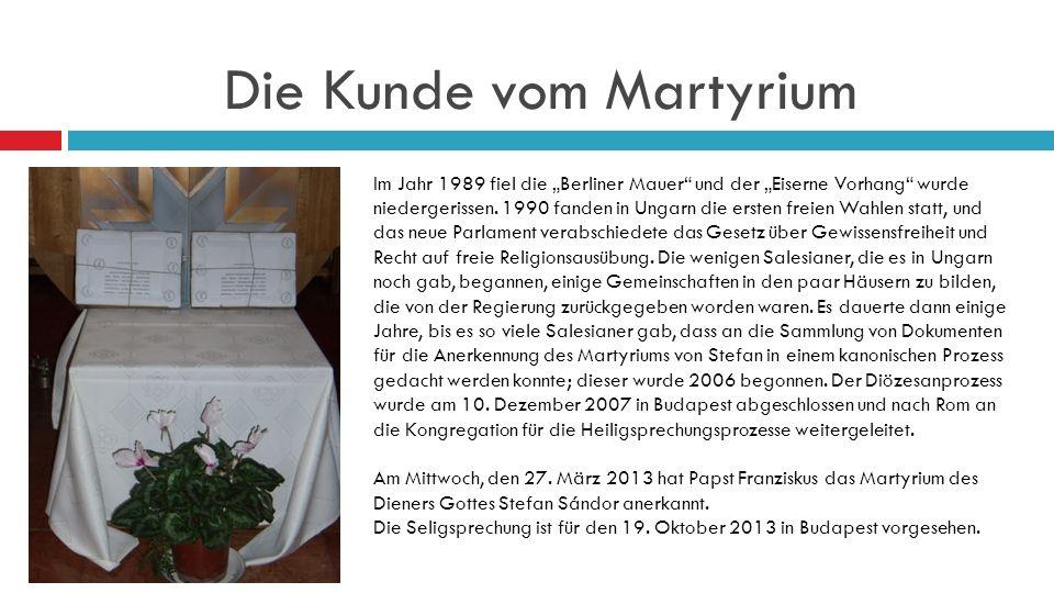 Die Kunde vom Martyrium Im Jahr 1989 fiel die Berliner Mauer und der Eiserne Vorhang wurde niedergerissen.
