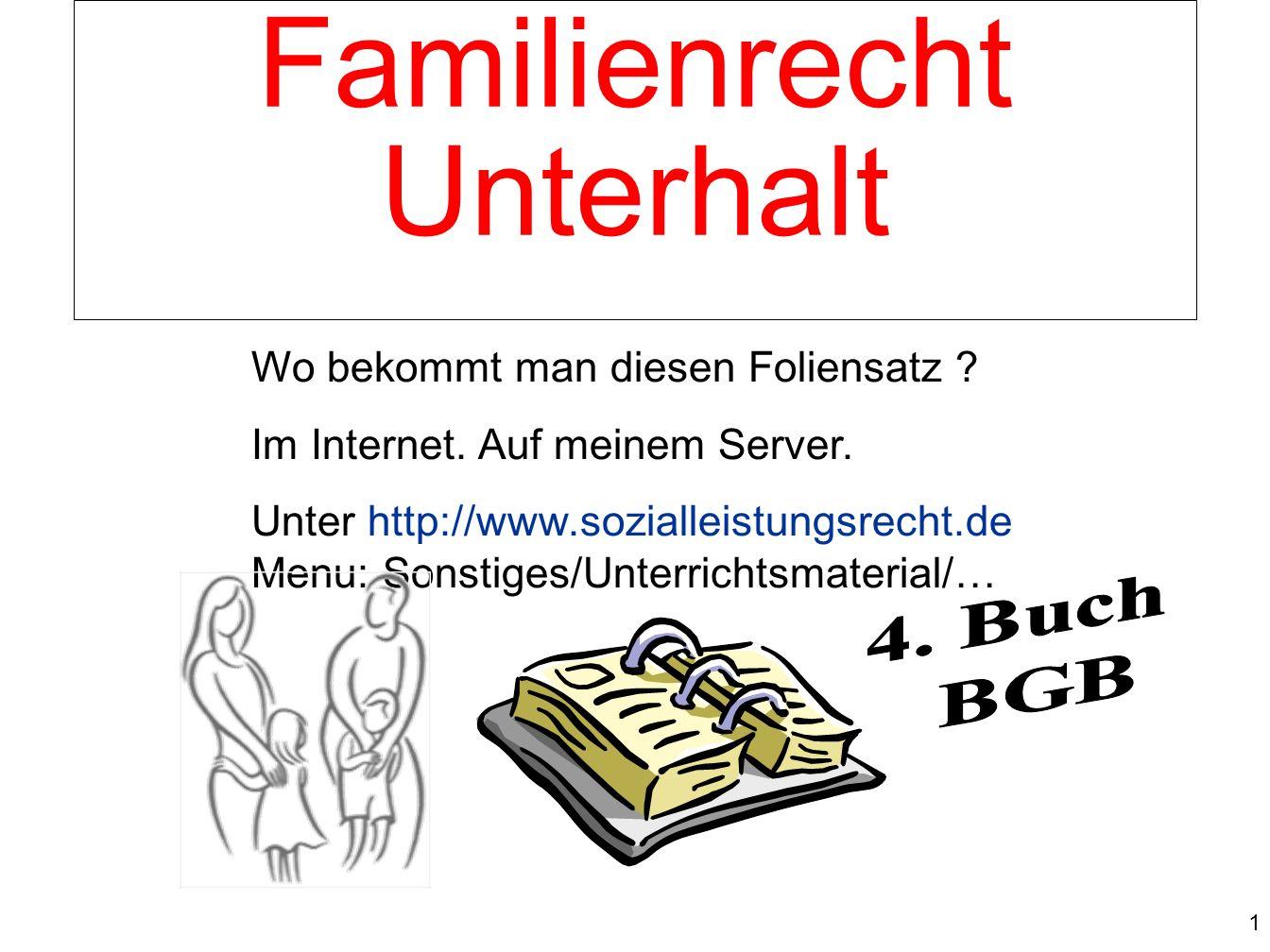 1 von Prof. Dr. Klaus Schneider-Danwitz Wo bekommt man diesen Foliensatz ? Im Internet. Auf meinem Server. Unter http://www.sozialleistungsrecht.de Me