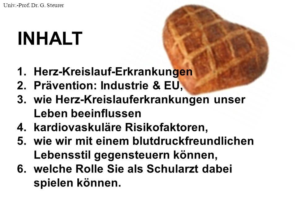 Brot und Salz Blutdrucksenkung SystolischDiastolisch Salzreduktion (50-100 mmol)- 2,9 mmHg-1,6 mmHg Gewichtsverlust (-4,5 kg)-3,6 mmHg-2,7 mmHg Fitness Training-2,1 mmHg-1,6 mmHg Alkoholreduktion (-85%)-3,8 mmHg-1,4 mmHg Kaliumzufuhr (+ 46 mmol)-1,8 mmHg-1,0 mmHg Diät (Früchte, Gemüse, …)-3,5 mmHg-2,1 mmHg