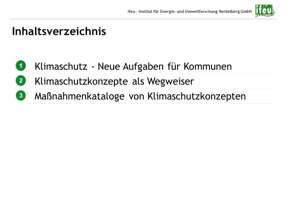 4 06.10.2012 Benjamin Gugel ifeu - Institut für Energie- und Umweltforschung Heidelberg GmbH Inhaltsverzeichnis 1 Klimaschutz - Neue Aufgaben für Komm