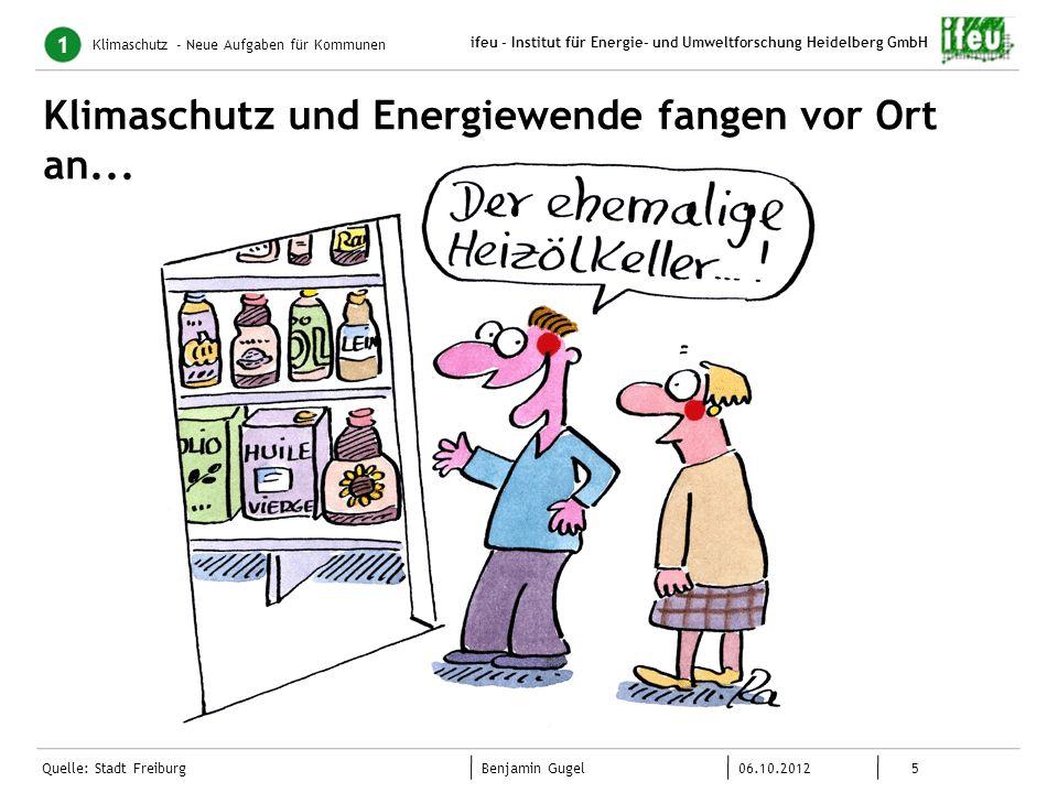 5 06.10.2012 Benjamin Gugel ifeu - Institut für Energie- und Umweltforschung Heidelberg GmbH Quelle: Stadt Freiburg Klimaschutz und Energiewende fange