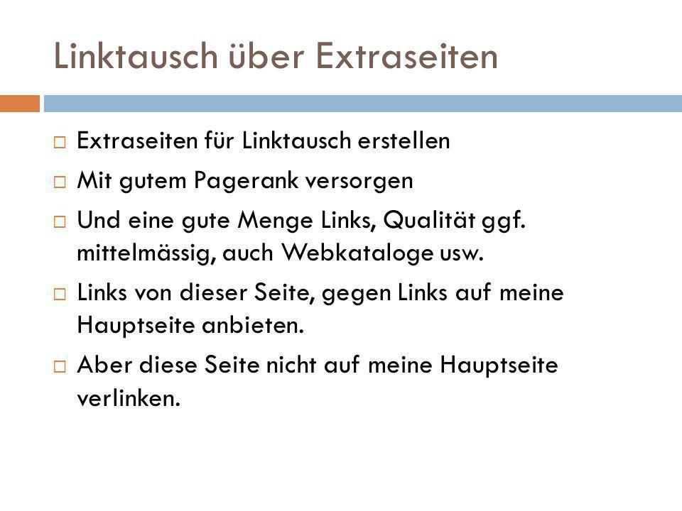 404 Nicht mehr funktionierende (404er) Links suchen Eigenen Inhalt als Ersatz vorschlagen Tool: Xenu Linkchecker http://home.snafu.de/tilman/xenulink.html