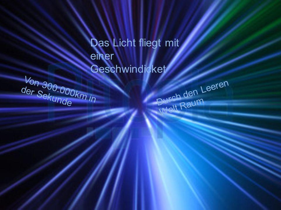 Von 300.000km in der Sekunde Durch den Leeren Welt Raum Das Licht fliegt mit einer Geschwindicket