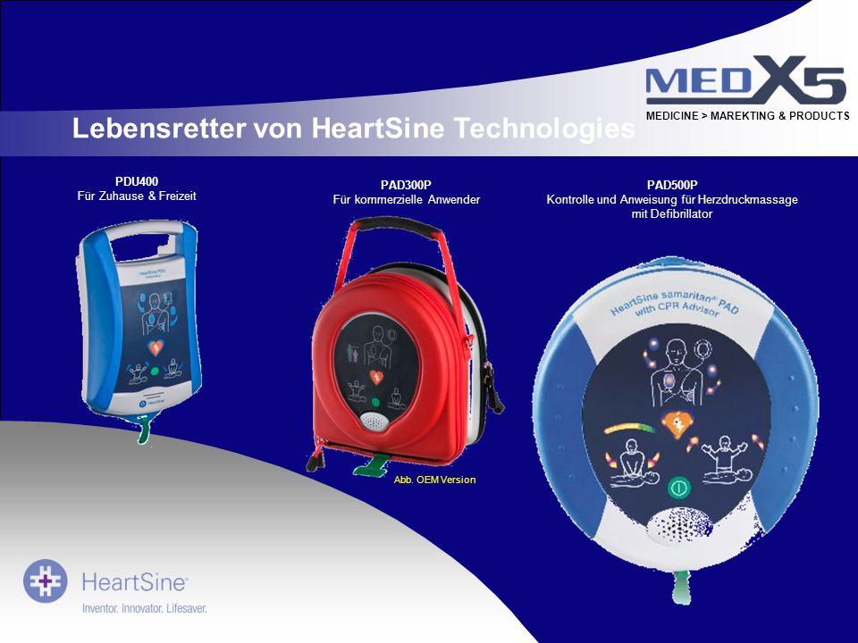 MEDICINE > MAREKTING & PRODUCTS Lebensretter von HeartSine Technologies PDU400 Für Zuhause & Freizeit PAD500P Kontrolle und Anweisung für Herzdruckmas