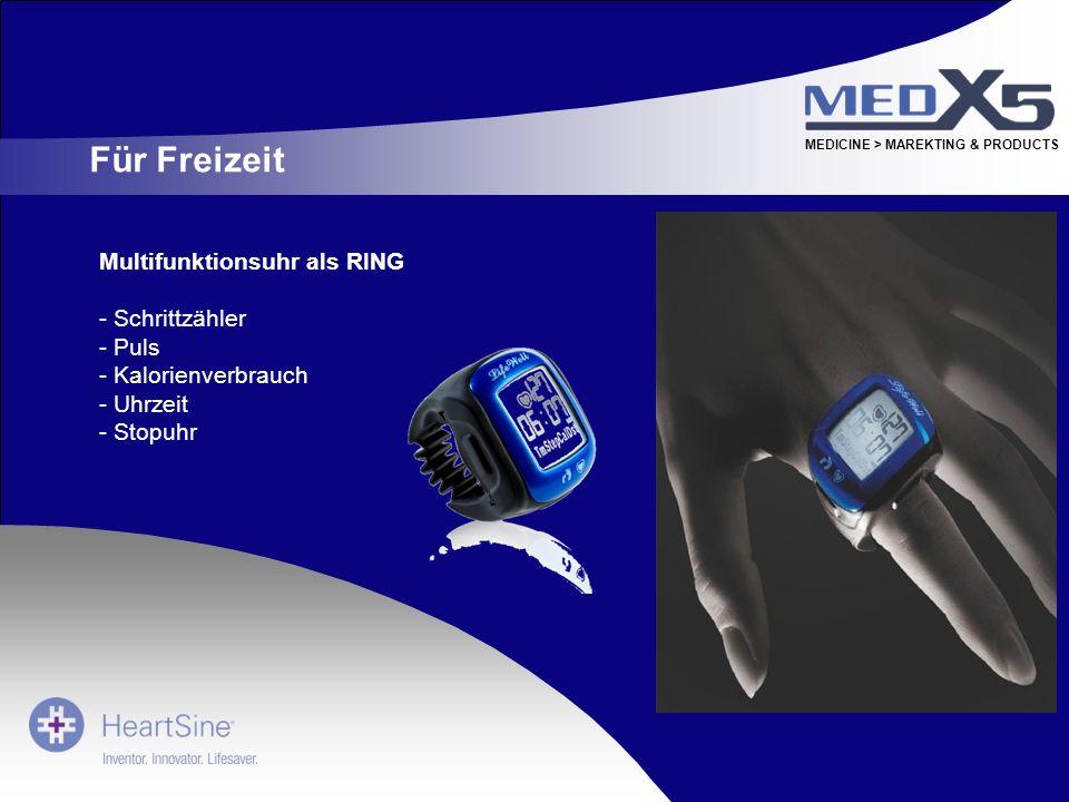 MEDICINE > MAREKTING & PRODUCTS Multifunktionsuhr als RING - Schrittzähler - Puls - Kalorienverbrauch - Uhrzeit - Stopuhr Für Freizeit