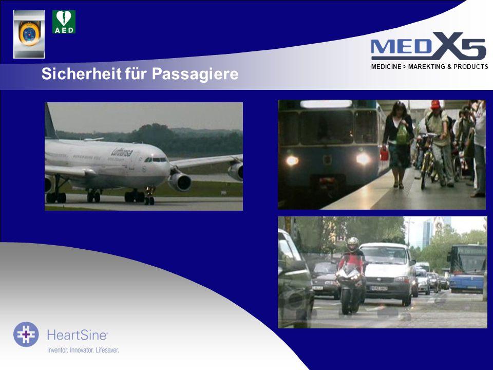 MEDICINE > MAREKTING & PRODUCTS Sicherheit für Passagiere