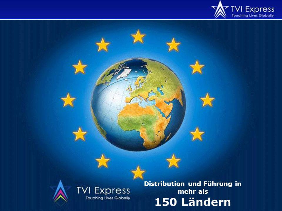 Distribution und Führung in mehr als 150 Ländern