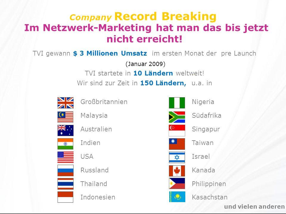 Company Record Breaking Im Netzwerk-Marketing hat man das bis jetzt nicht erreicht.