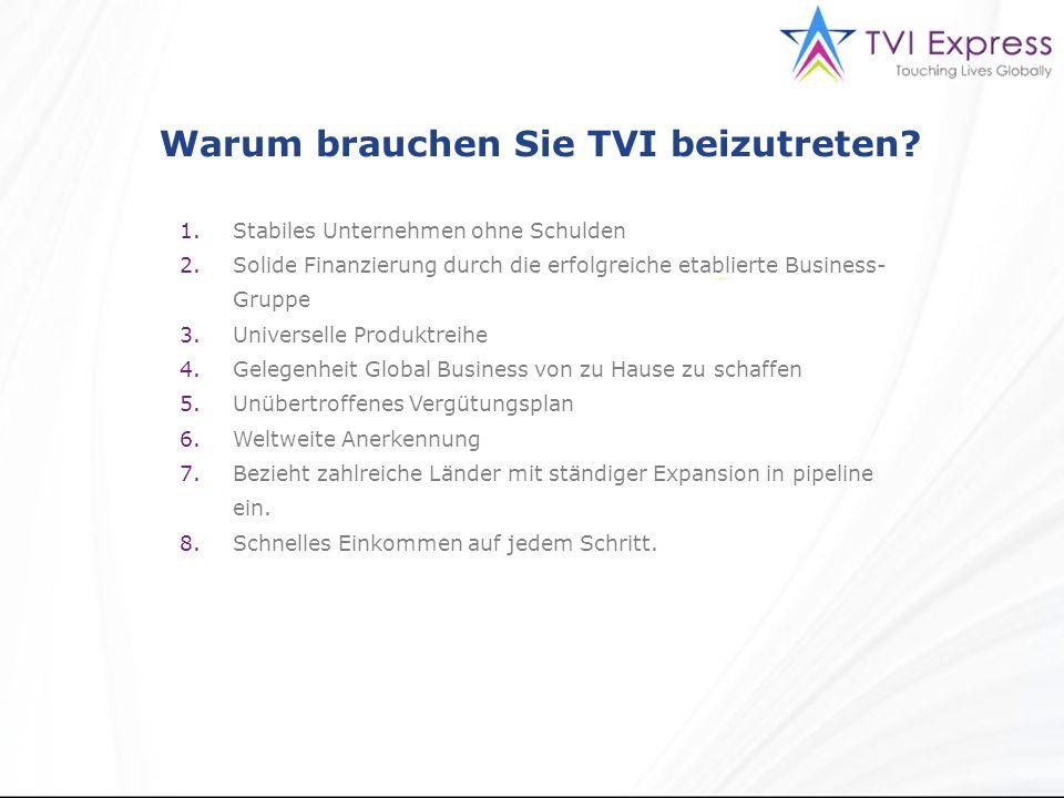 Warum brauchen Sie TVI beizutreten.