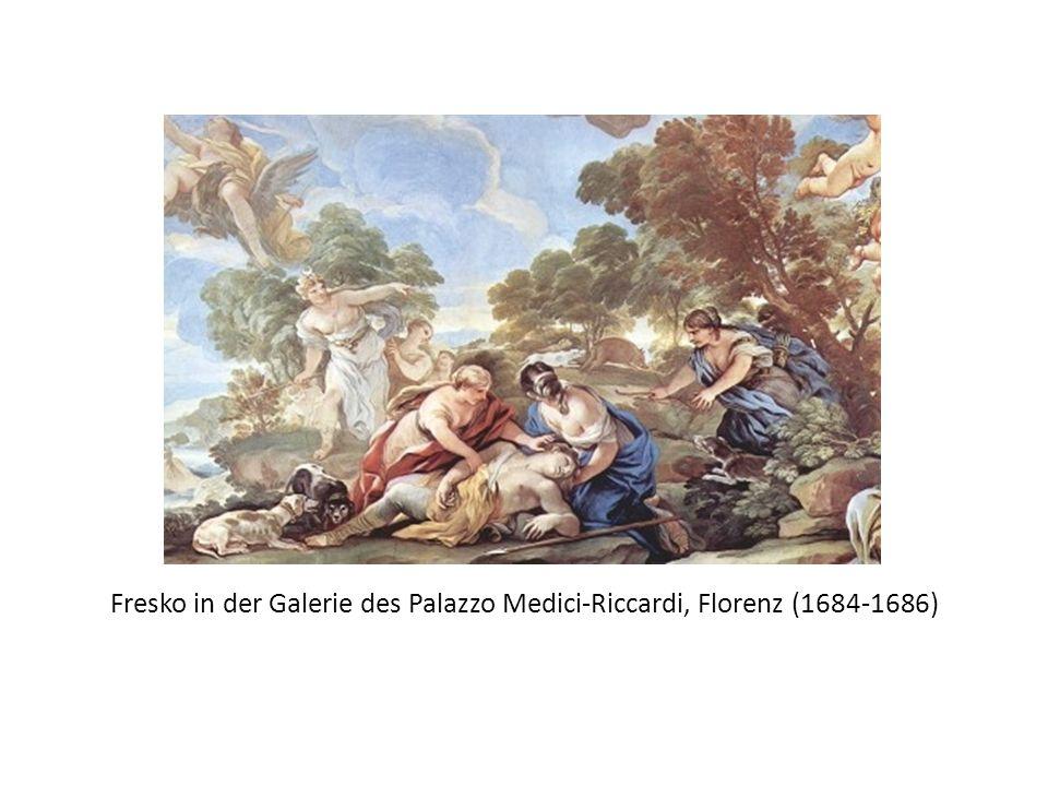 Fresko in der Galerie des Palazzo Medici-Riccardi, Florenz (1684-1686)