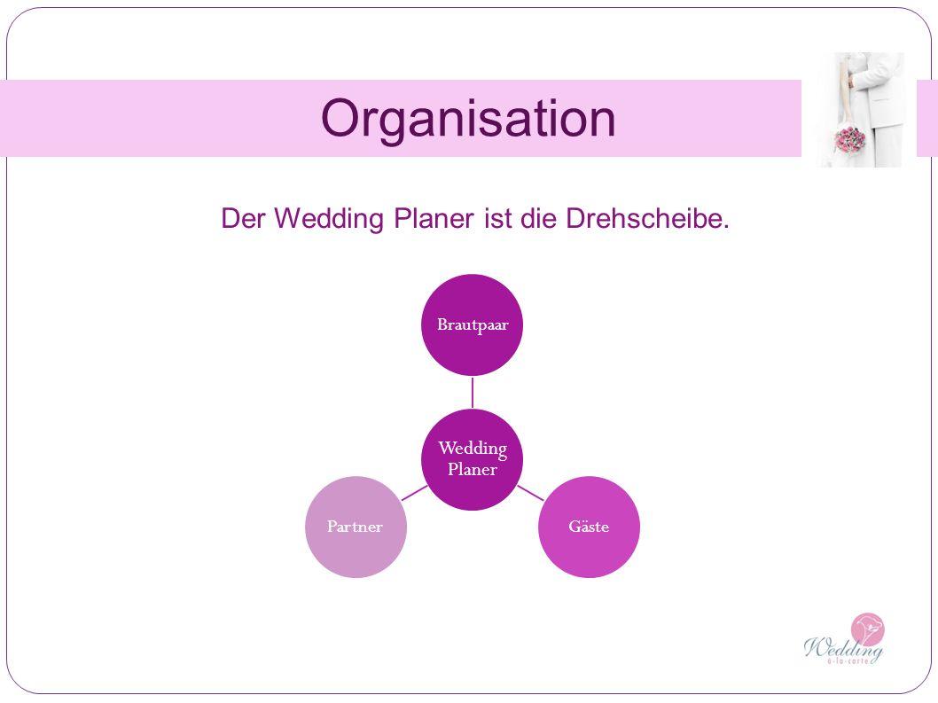 Organisation Wedding Planer BrautpaarGästePartner Der Wedding Planer ist die Drehscheibe.