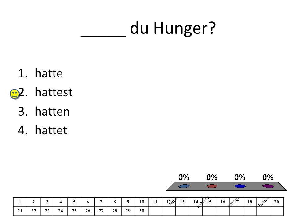 _____ du Hunger.