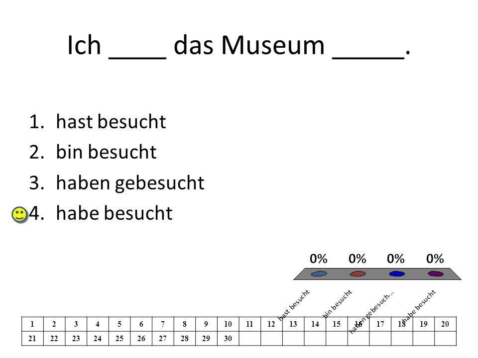 Ich ____ das Museum _____.