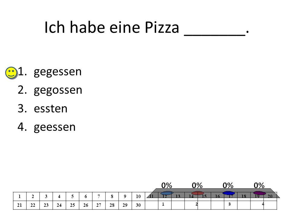 Ich habe eine Pizza _______.
