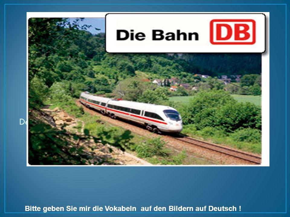 Der Zug ist weiss.Der Zug ist schnell.